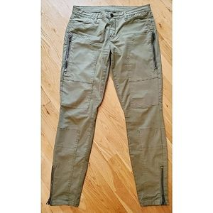 Blank NYC The Stick Shift Moto Pants Army Green 28